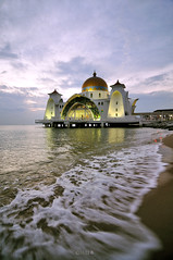 The Malacca Straits Mosque (naza.carraro) Tags: ocean city travel sunset sea summer vacation sky building tower tourism beach monument architecture landscape religious dawn golden twilight scenery worship shrine asia tour symbol dusk minaret muslim islam faith prayer religion pray culture floating peaceful places landmark mosque tourist historic unesco holy malaysia dome historical wisdom oriental spiritual ramadan straits tranquil melaka masjid aidilfitri malay allah malacca attraction islamic selat moslem floatingmosque bandarhilir pulaumelaka straitofmalacca masjidselatmelaka melakastraits selatmelaka malaccastraitsmosque malaccacity melakahistoricalcity melakabandarayabersejarah melakastraitsmosque rahmadan