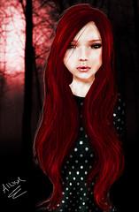 Ailish in the Woods (Ailish  hAnnluain) Tags: life red irish photoshop photo second