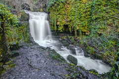 Wensley Waterfall...IMG_8412.jpg (Katybun of Beverley) Tags: uk longexposure bridge waterfall yorkshire hdr yorkshiredales wensley leyburn wensleywaterfall