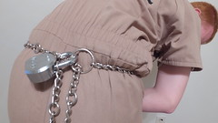 Tan Inmate Jumpsuit (boblaly) Tags: tan inmate uniform belly chain jumpsuit prison prisoner detention arrested arrest handcuffs handcuffed restrained restraints padlock locked secure