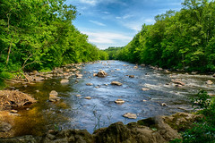 The-Farmington-River (desouto) Tags: flowers sky nature water clouds stream stones lakes ponds hdr