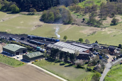 And they say Norfolk's flat!  Weybourne Station and works operated by The North Norfolk Railway (John D F) Tags: norfolk aerialview aerial railwaystation trainstation aerialphotography sheringham eastanglia aerialphotograph northnorfolkrailway poppyline aerialimage droneview aerialimagesuk