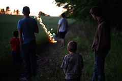(Sean Anderson Media) Tags: sunset field forest 50mm evening waiting fireworks outdoor dusk farm f14 country watching groupshot summerevening doorcounty farmfield bottlerocket grainfield lensadapter nikon50mmf14 fotodiox nikontosonyemount sonyaa7rii