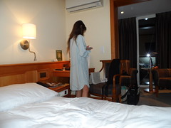 on the way to bed in hotel ... (faberlatusm - 200 mio views) Tags: sexy flashinpublic flashing breasts pussy publicupskirt teasing brunette bottomless