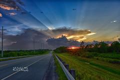 Florida Sunset from Bridge ( julev69  1,925,000+ Views- THANK YOU!) Tags: florid sunset road highway bridge sunrays clouds sky august hot julieeverhart julev69