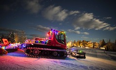 The Magic of Night (Ed.Stockard) Tags: pistenbully groomer xc crosscountryski grooming night sunmountainlodge methowtrails methowvalley wa washington winter christmaslights christmas snow ski stars
