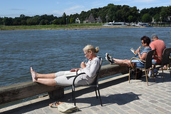 Lazy sunday afternoon (=Mirjam=) Tags: nikond750 deventer ijsselkade bookmarket sunday afternoon river relax summer ijssel reading books augustus 2016