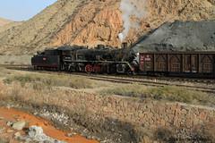 I_B_IMG_8092 (florian_grupp) Tags: asia china steam train railway railroad bayin lanzhou gansu desert landscape loess mountains sy ore mine 282 mikado steamlocomotive locomotive