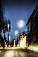 La nuit revient (Fabrice Le Coq) Tags: nuit extrieur route bleu noir sombre lumire maison cable fil fabricelecoq