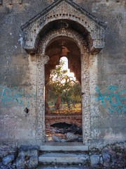 Profanity Over Another Age. (domenicobusco) Tags: samsung smartphone church graveyard old antique desolate abandoned tree olivetree trees