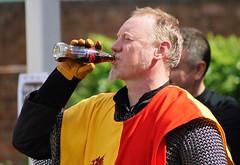 Chainmail & Coke (dlanor smada) Tags: tudor aylesbury bucks chilterns reenactment coke drink redyellow