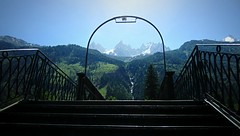 Chamonix (AmyEAnderson) Tags: chamonix france europe mountain merdeglace stairs steps stairway arch entrance horizon mountains fence rhonealpes montblanc scenic
