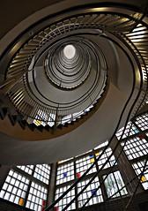 Wendeltreppe (Markus Pier ( MaPi )) Tags: treppenhaus wendeltreppe dortmund weitwinkel stufen gelnder architektur perspektive ellipse