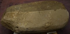Text may spell out rituals (SMU Research Blog) Tags: etruscan mugellovalley mugello valley archaeological project uni deity fertility goddess mother stele poggio colla italy gregory warden southern methodist university archaeology