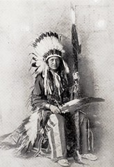 Chief Standing Bear with Buffalo Bill's Wild West.  Exhibit at the Buffalo Bill Museum on Lookout Mountain, Colorado (lhboudreau) Tags: buffalobillmuseum museum lookoutmountain colorado usa exhibit buffalobillswildwest buffalobillswildwestshow wildwest wildwestshow show indian nativeamerican americanindian sioux siouxchief asiouxchief lakota standingbear chiefstandingbear lutherstandingbear lakotaperformer performer headdress feather feathers