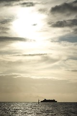 _SAN0328 (sanrekula) Tags: brighton beach sunset ship ocean