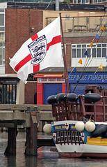 Bridlington boats 2 (Camperman64) Tags: bridlington boat harbour pirateship flag england euro2016 optimism naivety patriotism