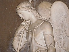 Angelic Angel! (springblossom3) Tags: statue winchester cathedral hampshire religion stonework tourism architecture history
