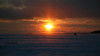 Awesome sunset in Helsinki (VisaStenvall) Tags: canon eos 6d 24105 mm f 4 l is usm suomi finland helsinki lauttasaari sunset sun ice ocean winter cloud cloudy clouds snow people walking cold