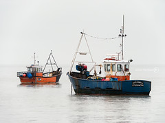 18% Grey Day (ShrubMonkey (Julian Heritage)) Tags: sea west boats grey sussex fishing princess steel overcast calm panasonic g5 nicholas nautical selsey 14140 li176 li90
