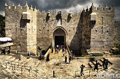 Damascus Gate (NoamC - www.noamchen.com) Tags: architecture israel ancient gate jerusalem walls  hdr  oldcity damascusgate  noamchen