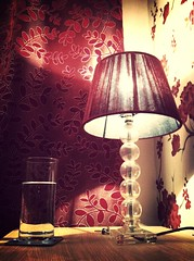 52/2 Randomness! (D/\ZZ/\) Tags: light water glass lamp table cabinet curtain bedside 522 iphone4