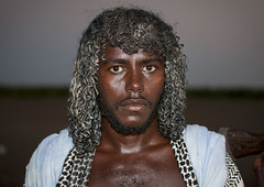 Afar Tribe Man, Assaita, Afar Regional State, Ethiopia (Eric Lafforgue) Tags: africa portrait people haircut men face horizontal night hair photography serious african culture tribal grease butter tradition ethiopia tribe ethnic hairstyle adultsonly oneperson frontview confidence traditionalculture hornofafrica individuality ethnology afar eastafrica traditionalclothing realpeople colorimage lookingatcamera onlymen onemanonly traveldestination danakil 1people pastoralist africanculture nomadicpeople 2024years asaita assayta mg2287