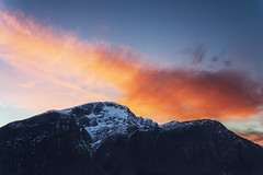 Untitled (Daniel Ingebrigtsen) Tags: red sky sun mountain ex norway dc angle f14 wide sigma hcm hdr 30mm