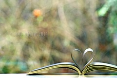 I opened the book and love came out... (Gregoria Gregoriou Crowe) Tags: book spring bokeh 200mm openbook sunshining franceshodgsonburnett thesecretgarden sonyalpha bookheart yahoo:yourpictures=love