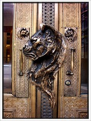 Marquette Building Door Handle ~ Chicago Il (Onasill ~ Visiting ~ Will Return Comments Soon.) Tags: county school usa chicago building architecture us illinois mosaic interior entrance cook style places landmark historic il company architect national register renovation 1001nights marquette builder attraction fuller preservation roche nrhp holabird 1001nightsmagiccity onasill