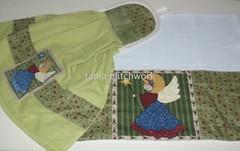 Kit Cozinha Anjo ..... (tania patchwork) Tags: patchwork cozinha anjos panodeprato batemo