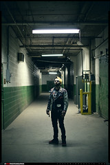 Mickey Saldana (VKMUSTBEDESTROYED) Tags: green lights detroit perspective hallway shallowdof russellindustrialcenter