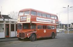 RM 1615 Chingford Bus Stn 31-12-80 (dsj672) Tags: routemaster rm aec