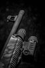 Just Business (JackAZ Photo) Tags: blackandwhite bw macro monochrome studio blackwhite sony einstein barrel pump weapon shotgun weatherby surefire 12ga 100mmf28macro strobist a99 weaponlight paulcbuff