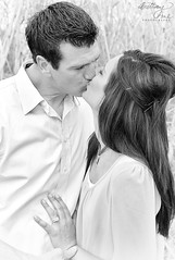 (Brittany-Anne) Tags: family wedding portrait man love girl engagement kissing couple blueeyes canond60 ring hazeleyes