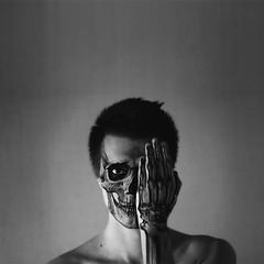 Welcome To The Black Parade (Alex Belyaev) Tags: portrait blackandwhite music art film face skeleton death skull poetry loneliness hand mask picture romance serenity anatomy bone welcometotheblackparade alexbelyaev