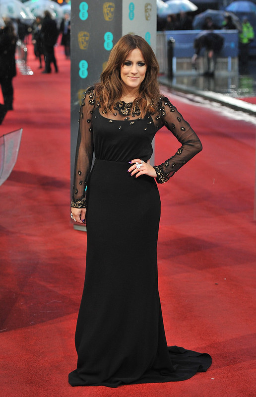 The 2013 EE British Academy Film Awards held at the Royal Opera House - Arrivals Featuring: Caroline Flack - WENN.com
