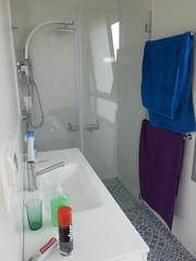 Sink and shower, master bedroom (dlisbona) Tags: sea vacation holiday vacances israel telaviv view apartment flat rental location appartement luxury seaview batyam louer apartement sejour