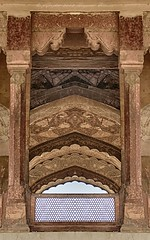 Arches Galore (z) Tags: city pakistan public architecture hall audience fort muslim za quadrangle lahore oldcity walled lahorefort mughal jahangir  diwaneaam widescape  variosonnartdt35451680