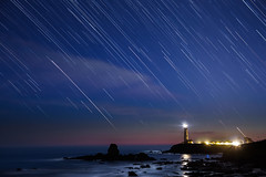 Startrails at Pigeon Point (Bryan Nabong) Tags: california longexposure lighthouse northerncalifornia night unitedstates time northamerica geography pigeonpoint pescadero startrails 2013photochallenge