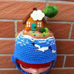 TooMe_Blythe (toome_blythe) Tags: hat doll handmade helmet blythe custom toomeblythe