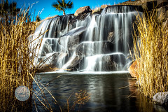 Water Fall (iCLIMATESTUDiOS) Tags: travel sky lake nature water outdoors waterfall amazing desert lasvegas nevada peaceful calm filter nd lakelasvegas bywater ndfilter