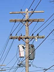 Old City Light and Power, Indiana Michigan Power Utility Pole (monon738) Tags: glass electric power pentax indiana pole powerlines electricity utilitypole powerpole porcelain k5 electricpole insulator allencounty fortwayneindiana glassinsulator porcelaininsulator boxcutout mcpda50135mmf28edifsdm