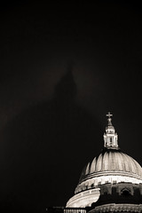 Air Raid St Paul's Cathedral London by Simon & His Camera (Simon & His Camera) Tags: city shadow urban bw building london monochrome architecture cathedral stpauls dome iconic minimalist
