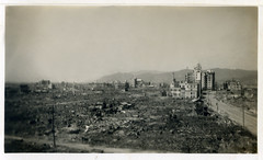 Hiroshima, Japan April 5th 1946 - Scene of A Bomb Devastation (1) (Black Diamond Images) Tags: japan hiroshima abomb hiroshima5thapril1946 abombdevastation abombdestruction maxswartimeimages