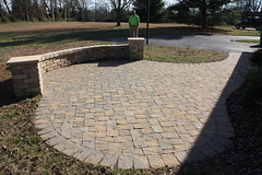 "Paver patio with sitting wall and columns • <a style=""font-size:0.8em;"" href=""http://www.flickr.com/photos/22274533@N08/8515016898/"" target=""_blank"">View on Flickr</a>"
