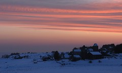Le village d'Aubrac (Michel Seguret thanks you all for + 7.700.000 view) Tags: schnee winter sunset snow france cold nature night season nikon plateau hiver nieve natur natura neve pro invierno neige d200 kalt inverno froid frio saison massifcentral aubrac    michelseguret