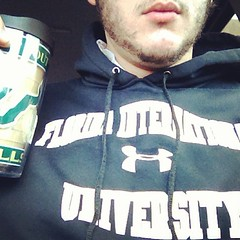USF mug, FIU sweater.