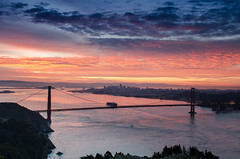 Good Morning -- San Francisco (anishsid) Tags: sanfrancisco california usa sunrise nikon day cloudy goldengate bayarea bluehour hawkhill 2470f28 gnd ndgrad leefilters d7000 6gnd 9gnd