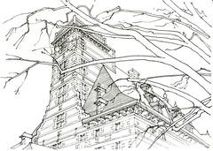 Liège, Maison Curtius (gerard michel) Tags: architecture sketch belgium liège croquis grandcurtius